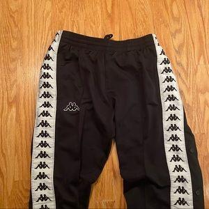Black and white Kappa pants